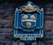 Hull's first blue plaque? On the wall of the Charterhouse.