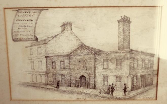 Lister's Hospital, S Church Side