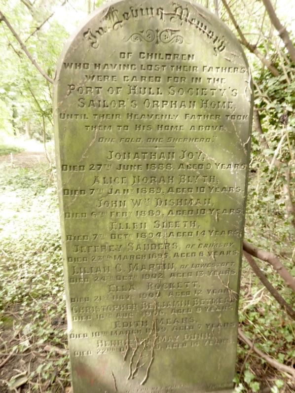 Orphan deaths, Sailor's Orphan Home