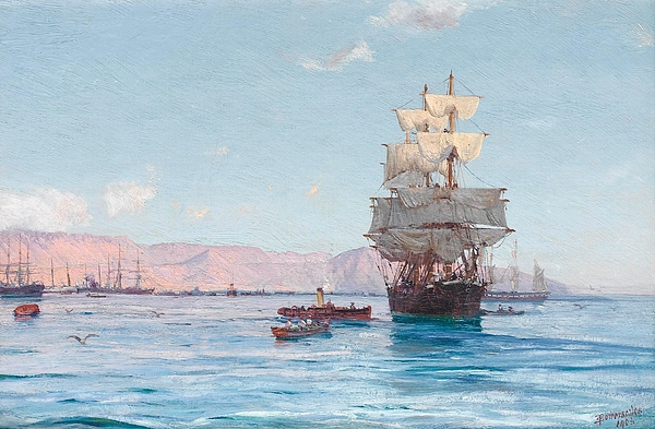thomas-somerscales-port-of-iquique-chile-1903-thomas-somerscales